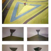 Afbeelding van het kunstwerk '5 foto-impressies van maquette in lijst' van Bas Maters