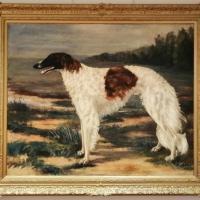 Afbeelding van het kunstwerk 'Hazewindhond Barzoi' van C.J. de Jonge-Kaiser